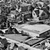 Luchtfoto Geref,Kerk en School